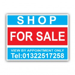 Shop For Sale Correx Sign Printed Personalised Boards