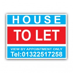 House To Let Correx Sign Printed Personalised Boards