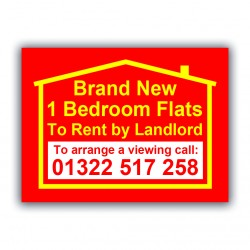 Flat For Rent Correx Sign Estate Agent Property Printed Board