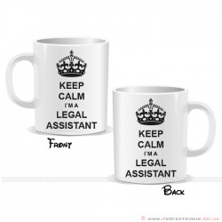 Keep Calm I'm a Legal Assistant Mug