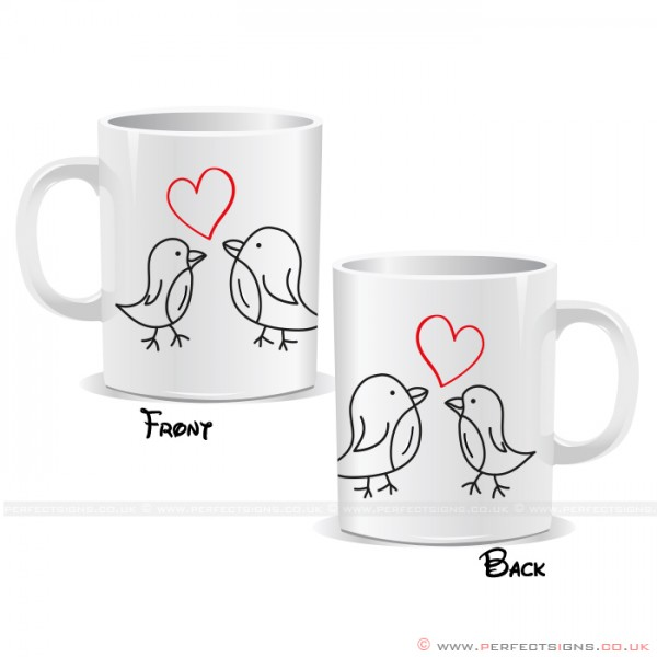 Two Birds With a Love Heart Mug