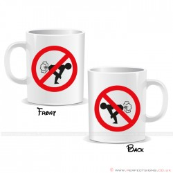 Fart Forbidden Zone Mug