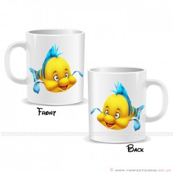 Flounder Disney Cartoon Character Mug