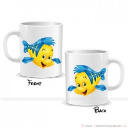 Flounder Fish Disney Cartoon Character Mug