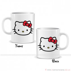Hello Kitty Face Cartoon Character Mug