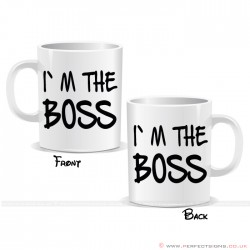 I'm The Boss Fun Printed Mug