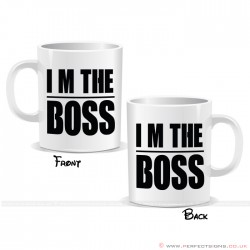 I'm The Boss Lined Printed Mug