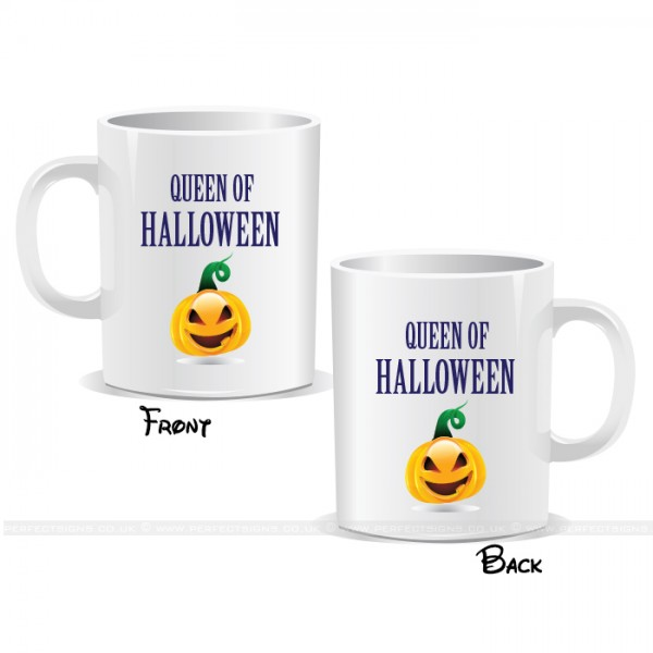 Queen Of Halloween Pumpkin Mug