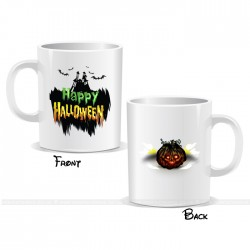 Horror Castle Pumpkin Happy Halloween Mug