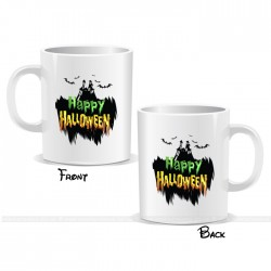 Horror Castle Happy Halloween Mug