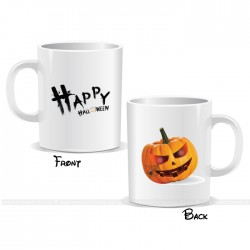 Scary Pumpkin Spider Web Happy Halloween Mug