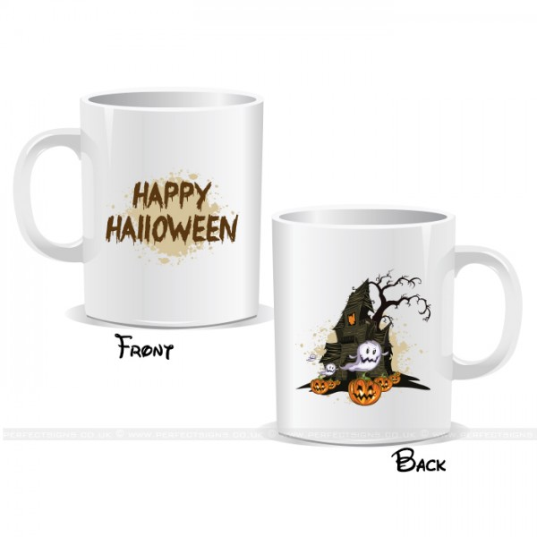 Scary Haunted Castle Happy Halloween Mug