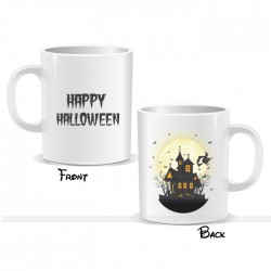Haunted Castle Happy Halloween Witch Mug