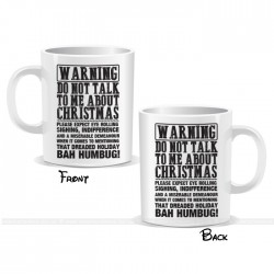 Warning Christmas Mug