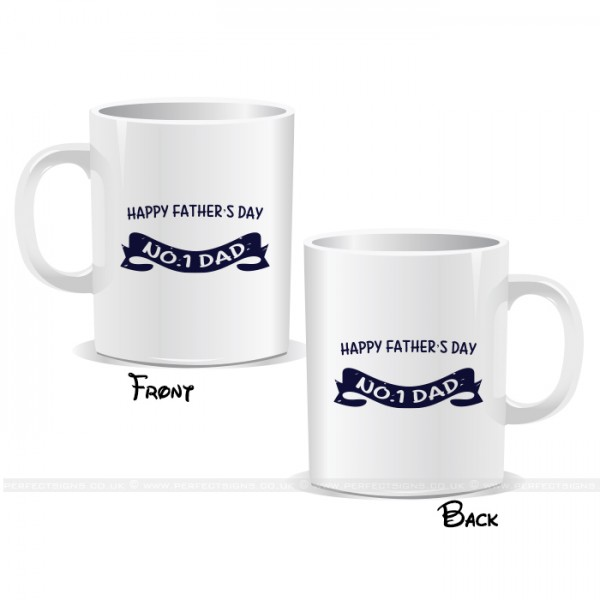 No 1 Dad Father's Day Mug