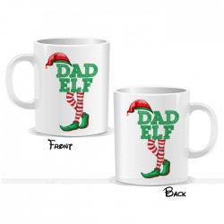 Dad Elf Christmas Mug