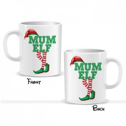 Mum Elf Christmas Mug