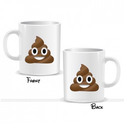 Poop Smiley Face Emoji Mug