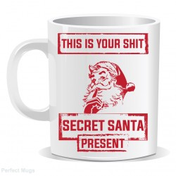 Secret Santa Face Hat Mug