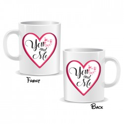 You And Me Love Heart Mug