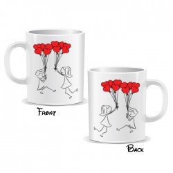 Lovers Red Balloons Mug