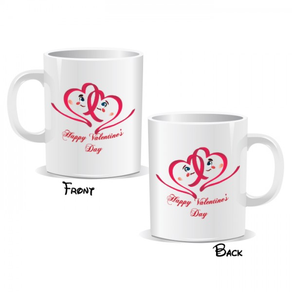 Happy Valentines Day Love Hearts Mug