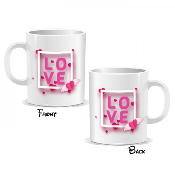 Love Hearts Pink Box Mug