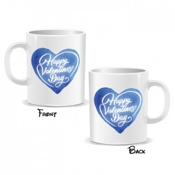 Happy Valentines Day Blue Heart Mug