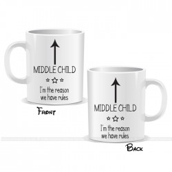I'm The Middle Child Arrow Mug