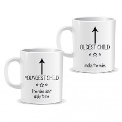 Youngest Oldest Children Arrow Mug