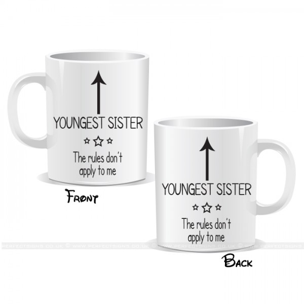 I'm The Youngest Sister Arrow Mug