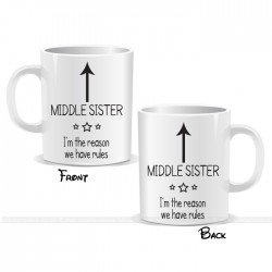 I'm The Middle Sister Arrow Mug