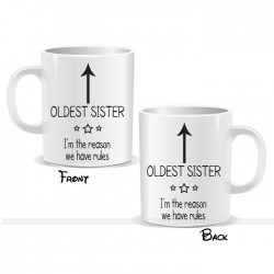 I'm The Oldest Sister Arrow Mug