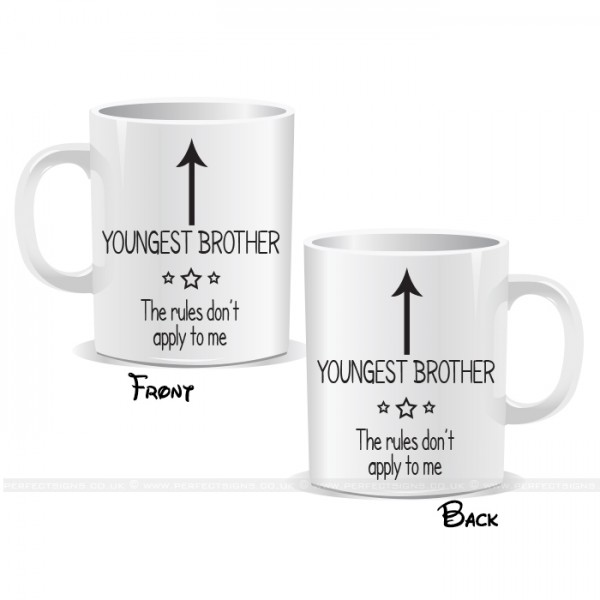 I'm The Youngest Brother Arrow Mug