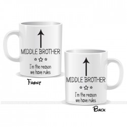 I'm The Middle Brother Arrow Mug