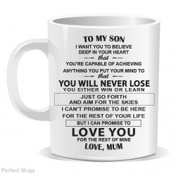 Son Dad Inspirational Quote Mug