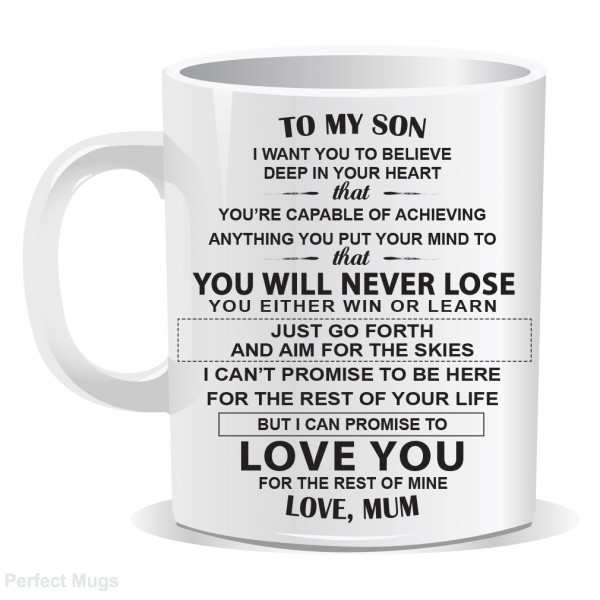 Son Mum Inspirational Quote Mug