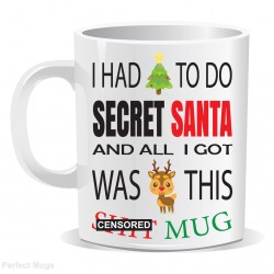 Secret Santa Censored Mug
