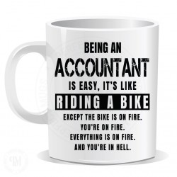 Being an Accountant is Easy It is Like Riding a Bike Mug