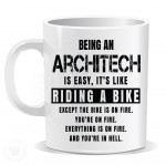 Being an Architech is Easy It is Like Riding a Bike Mug