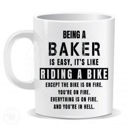 Being a Baker is Easy It is Like Riding a Bike Mug