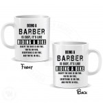 Being a Barber is Easy It is Like Riding a Bike Mug