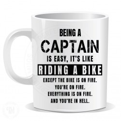 Being a Captain is Easy It is Like Riding a Bike Mug