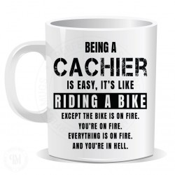 Being a Cachier is Easy It is Like Riding a Bike Mug