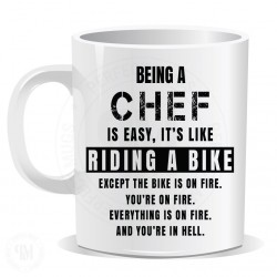 Being a Chef is Easy It is Like Riding a Bike Mug