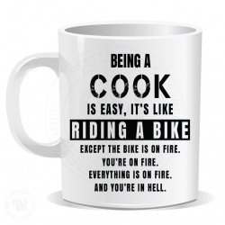 Being a Cook is Easy It is Like Riding a Bike Mug