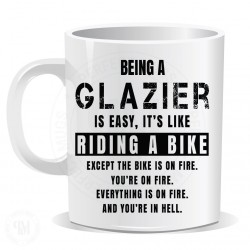 Being a Glazier is Easy It is Like Riding a Bike Mug