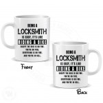 Being a Locksmith is Easy It is Like Riding a Bike Mug