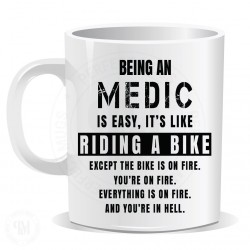 Being a Medic Easy It is Like Riding a Bike Mug