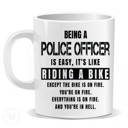 Being a Police Officer Easy It is Like Riding a Bike Mug